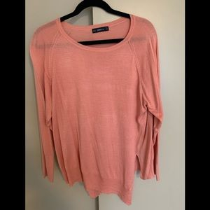 Salmon colored knit sweater